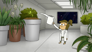 S8E06.046 Eileen Watering a Plant