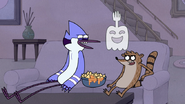 S4E34.028 Mordecai and Rigby Laughing at Hi-Five's Joke