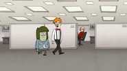 S7E25.047 Receptionist Giving Muscle Man the Tour