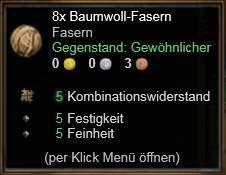 Baumwoll-Fasern