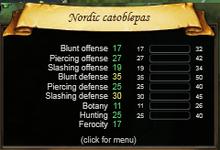 Nordic catoblepas stats