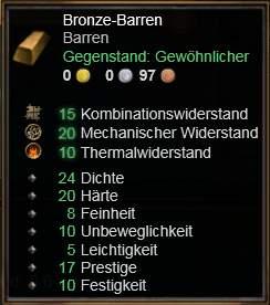 Bronze-Barren