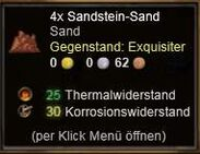 Sandstein-Sand