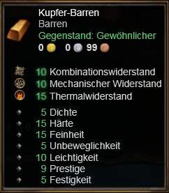 Kupfer-Barren