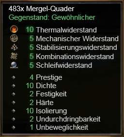 Mergel-Quader
