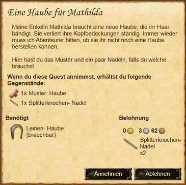 Eine Haube für Mathilda