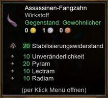 Assassinen-Fangzahn