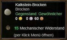 Kalkstein-Brocken