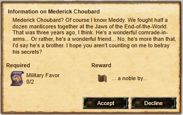 Information on mederick choubard