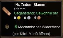 Zedern-Stamm