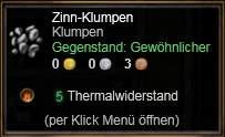 Zinn-Klumpen