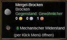 Mergel-Brocken