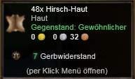 Hirsch-Haut