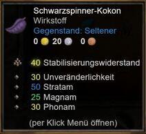 Schwarzspinner-Kokon