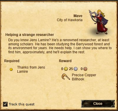 Quest-Helping a strange researcher