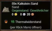 Kalkstein-Sand