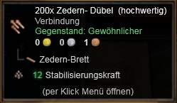 Zedern-Dübel (h)