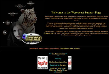The Werebeast Support Page