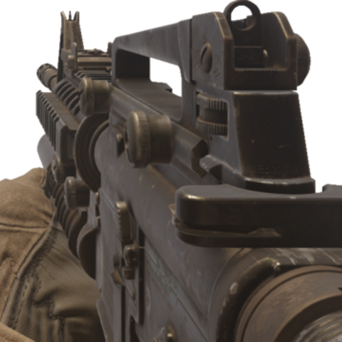 The Beta Version And The Early Model Of M4 With Grenade Lanucher But Does Not Appear In The Final Game And It Was Replace As M4A1 With Reflex Sight And AN/PEQ-2A Laser Emmiter