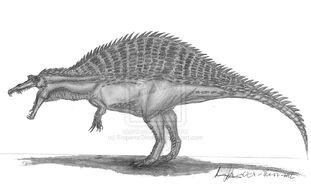 Spinosaurus aegyptiacus by emperordinobot-d5mwv9c
