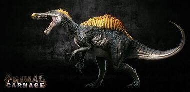 VideoGameArt PrimalRage Spinosaurus01 KevinBryant