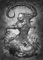 Barren1-500x704-Demon attacks horseman by Dominik Broniek