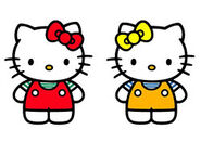 Mimmy and hello kitty