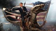 Obama-Riding-a-Velociraptor