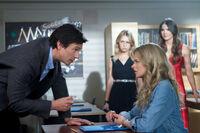 James, Amelia, Cassie und Diana