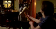 Scott using thor's hammer to fight Bootleg Gojira Gigantis