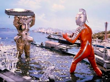 Here is a picture of ultraseven fighting king joe