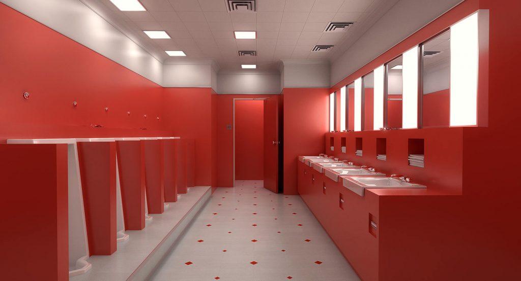 Unique Red Bathroom Set