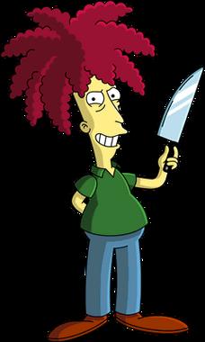 拿着刀的杀手