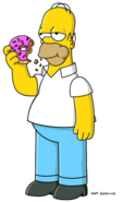 吃着甜甜圈的Homer