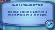 The Sims 3 logon error