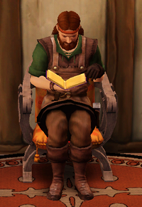 Blacksmith reading a Manual