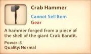 Crab Hammer desc