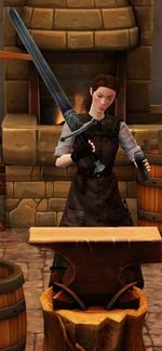 Steel longsword sharpended by blacksmith