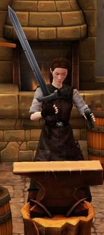 Greatsword sharpened by blacksmith