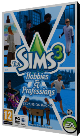 File:Thesims3 hobbies&professions cover byandy.png