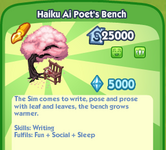 Haiku Ai Poet's Bench