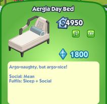 Aergia Day Bed Description