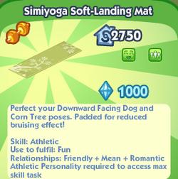 Simiyoga soft-landing mat