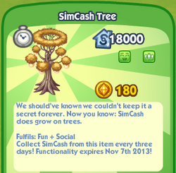 SimCash Tree
