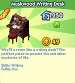 Muskwood Writing Desk