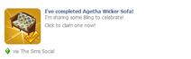 Agetha Wicker Sofa Wall Post