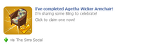 Agetha Wicker Armchair Wall Post