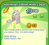 Anniversary Edition Writer's Desk
