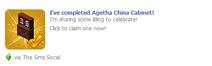 Agetha China Cabinet Wall Post