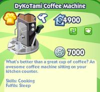 Dykotami coffee machine